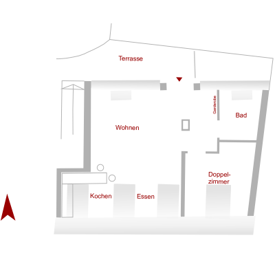 "Floor Plan Apartment ""Essener Hof"""